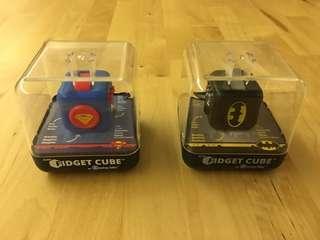 Official Antsy Labs fidget cubes: Batman and Superman edition