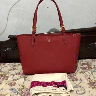 Tory Burch york small tote red