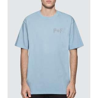 BRAND NEW PLACES + FACES Logo Reflective T-Shirt ((SIZE M))