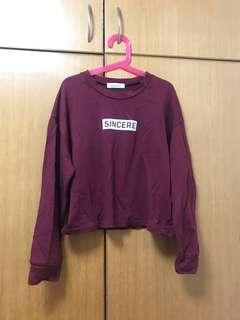 韓國短身長袖衫
