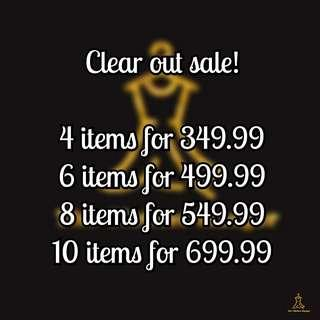 Clear Out Sale!