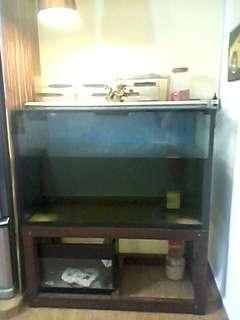 4 ft fish tank full complete set