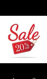 20% discount for all clothing