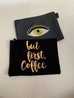 Starbucks Cosmetic Pouch/ Clutch