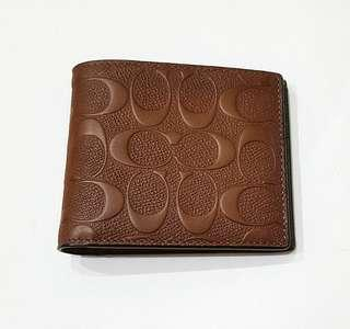 NEW: COACH Men's Wallet Leather