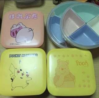 {CHINESE NEW YEAR} 2 Tier Cartoon Plastic Container box