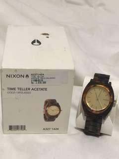 Nixon Time Teller Acetate Gold / Molasses