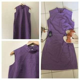 Zipped Back Lavander Dress