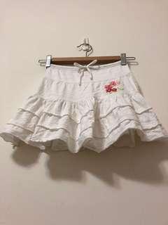 🚚 女童白短裙