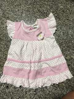 Cotton candy baby dress - up to 6mths
