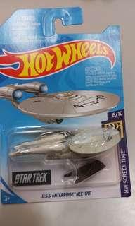 全新 風火輪 Hot Wheels 星空奇遇記 企業號 Star Trek U.S.S. Enterprice NCC 1702 一盒