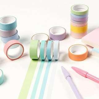 #01. Rainbow pastel washi tapes set