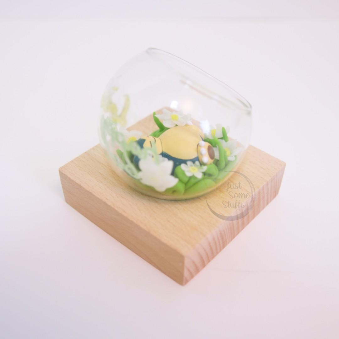 玻璃球 禮物訂造 寵物小精靈 Pokemon 精靈球 場景 樹脂黏土 卡比獸 生日禮物 情人節禮物