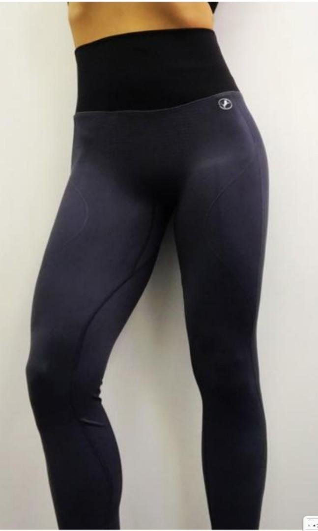 ABS2B Seamless Skin Charcoal Grey Scrunch Booty Tights