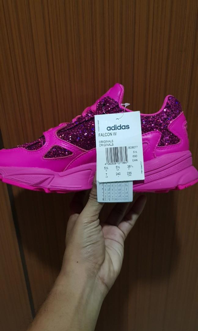 Adidas Falcon Hot Pink Glitter UK5.5