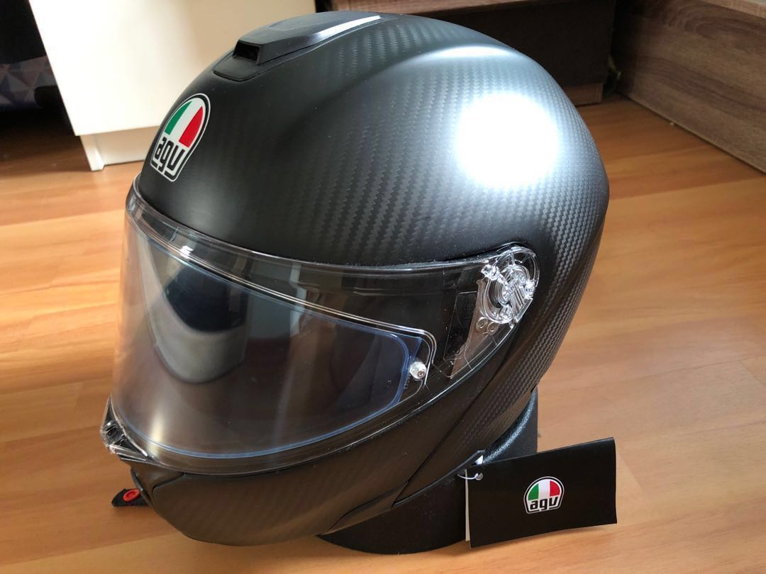 Agv Sport Modular Asia Fit Matt Carbon M Size Motorcycles Motorcycle Apparel On Carousell