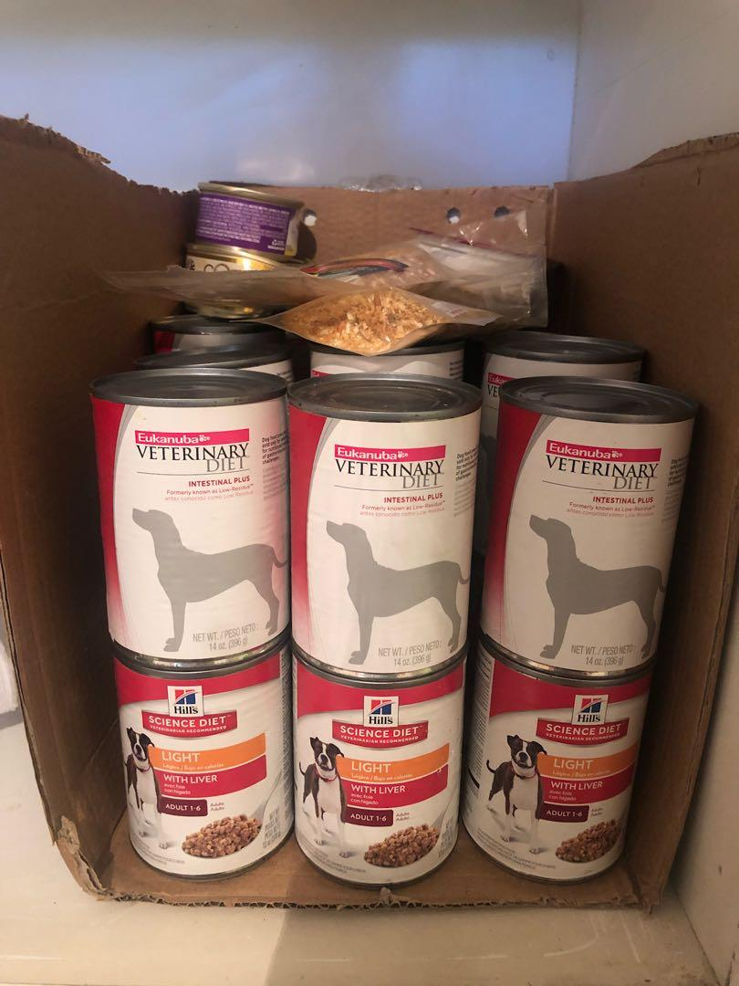 Assorted Dog Food Cans