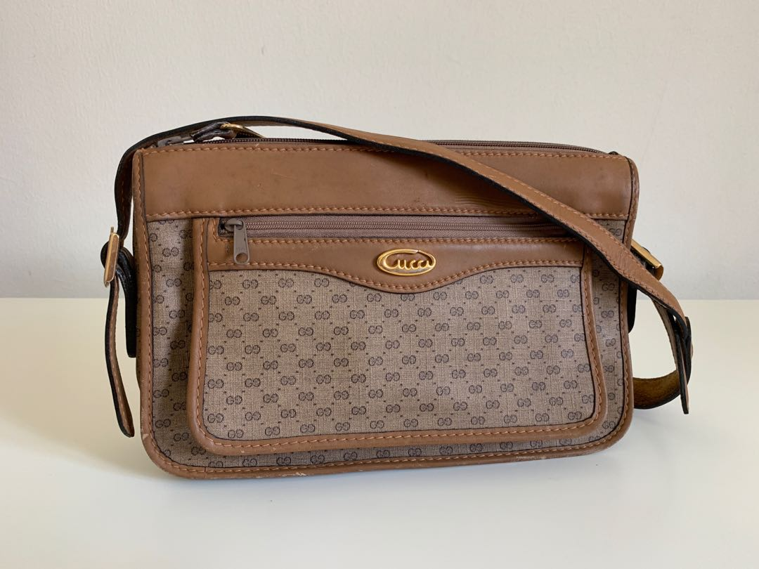98974853b Authentic Gucci Vintage Classic Sling Bag, Women's Fashion, Bags ...
