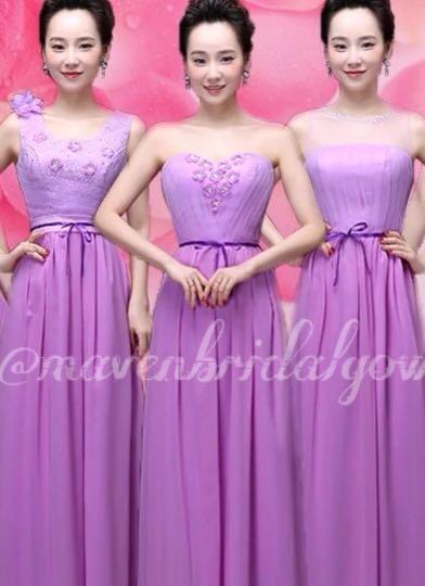 Baju Pesta Long Dress Terusan Panjang Bridesmaid Women S Fashion