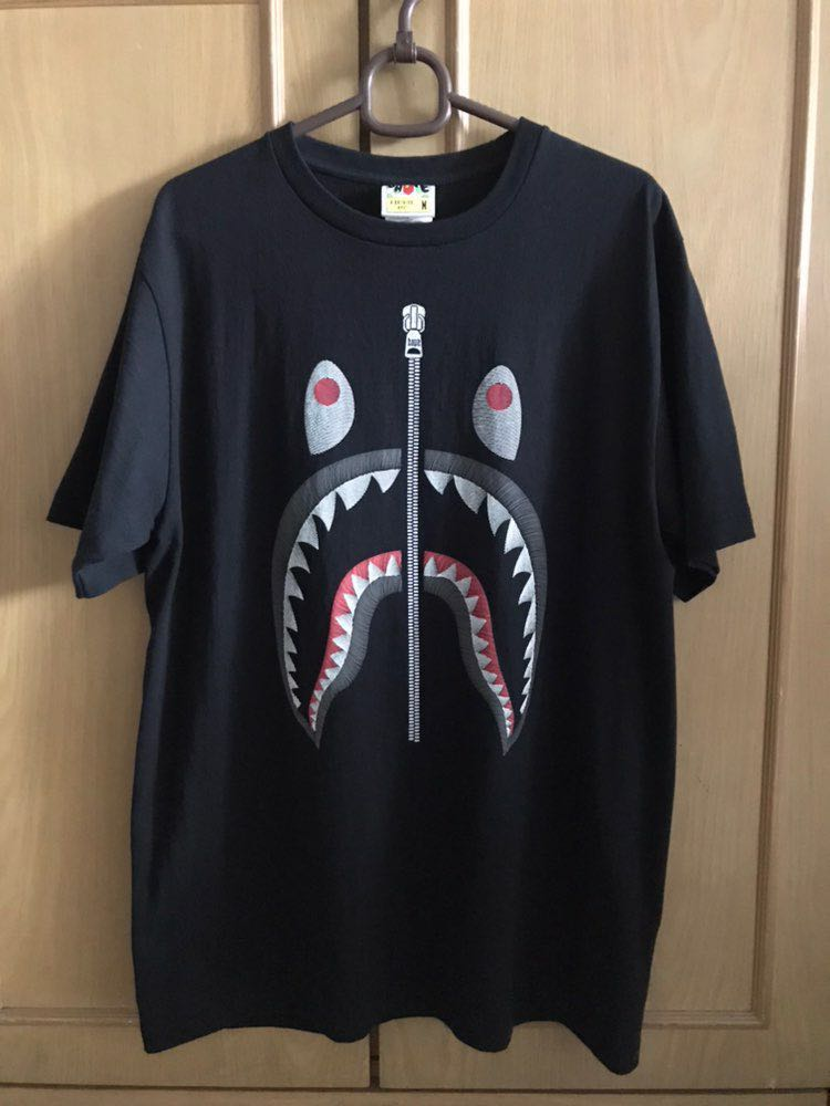 49f46db12 Bape Shark Embroidery Tee, Men's Fashion, Clothes, Tops on Carousell