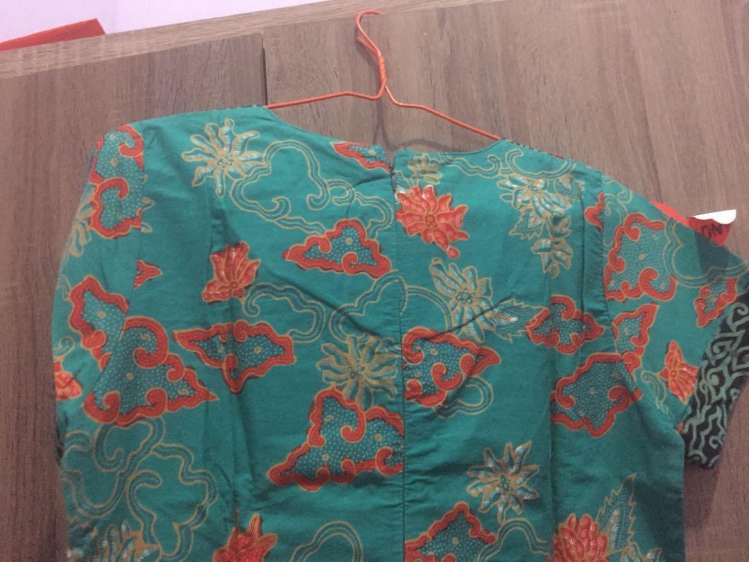 Batik dress tosca