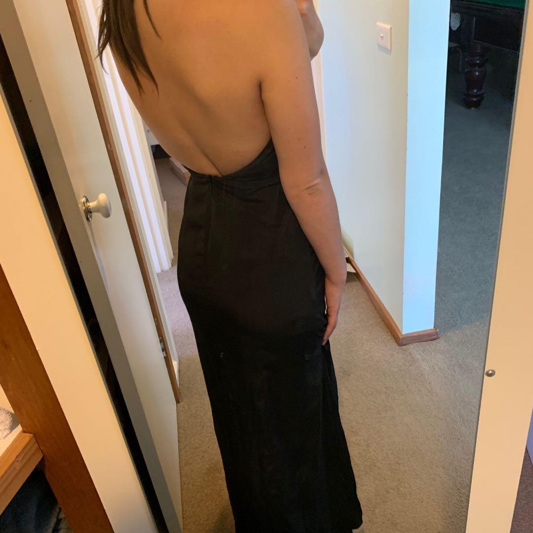 Black full length gown