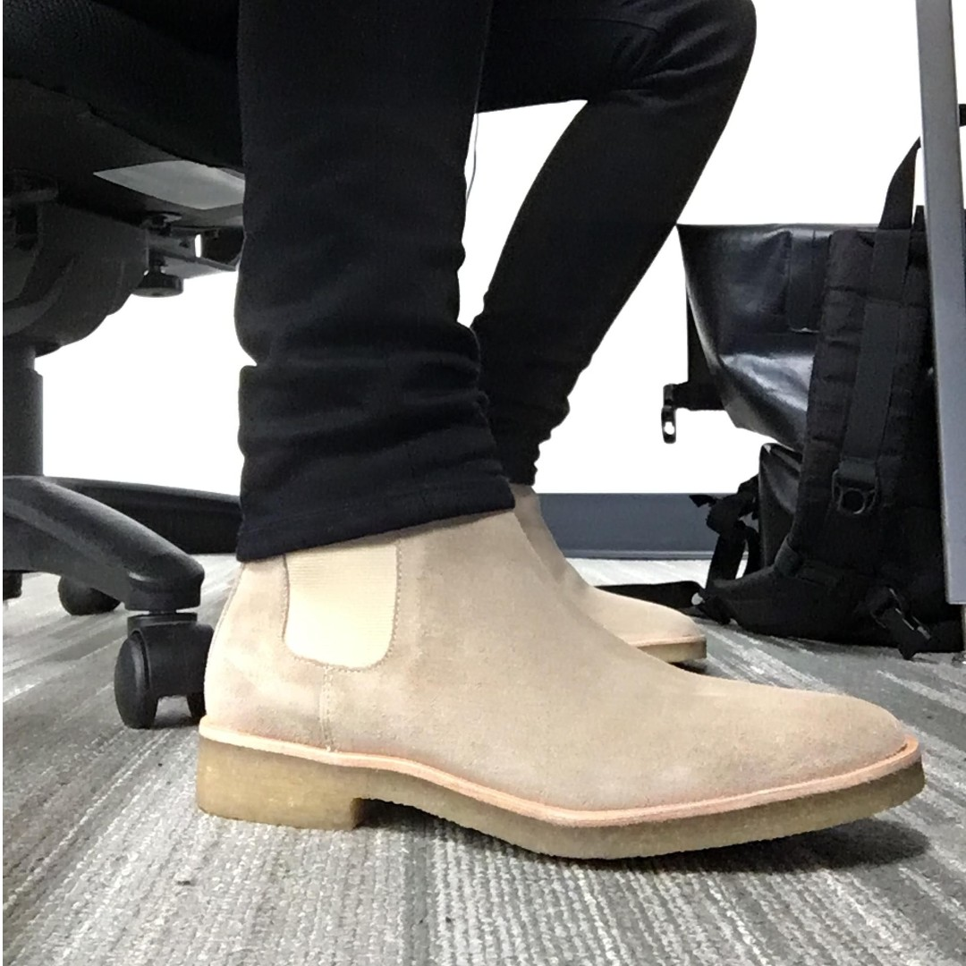 d5d5404cd7fbe2 BNIB] Chuck Suede Chelsea Boots Men (Camel) Common Projects ...