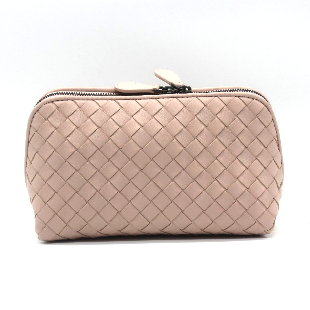 fd74f09aa171 Bottega Veneta Intrecciato Nappa Medium Cosmetic Case (Petale ...