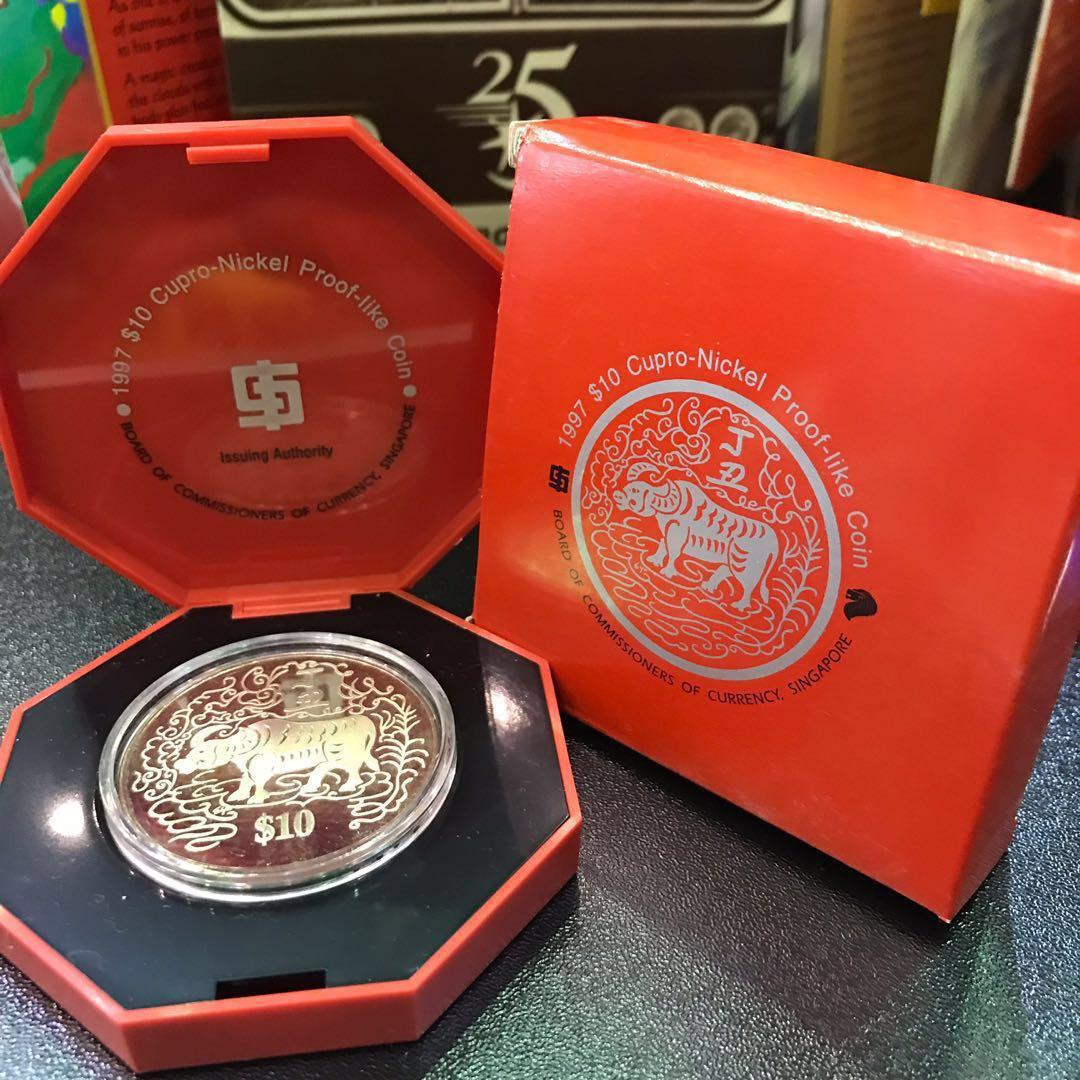 Collectable Coin 1997 Year of Bull/Cow