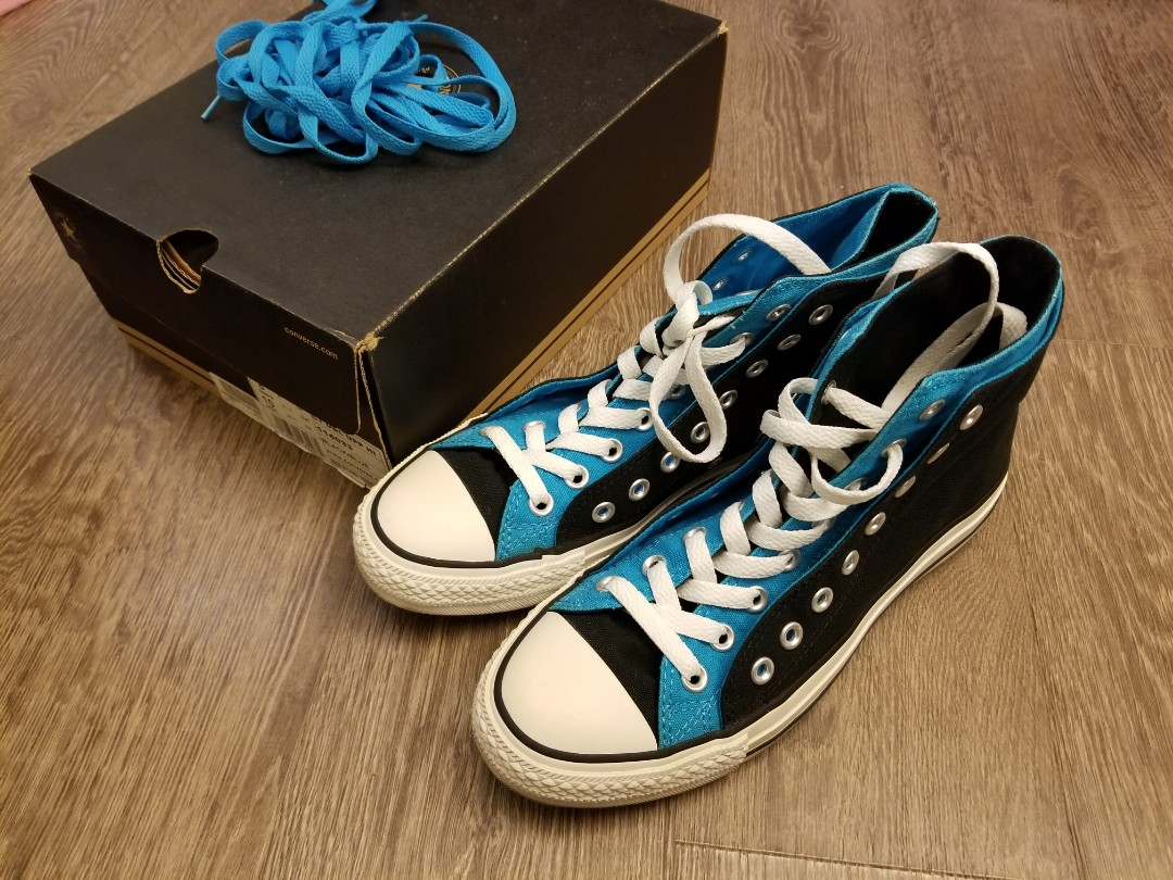 6c48e6795ebe Converse all star mens US 8 black blue