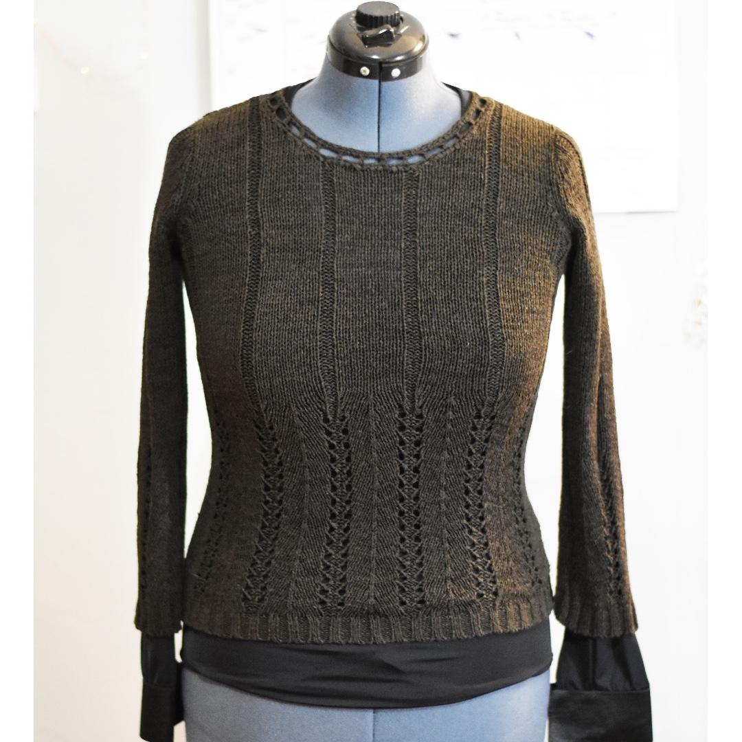 Denver Hayes Acrylic Knit Top - Chocolate - Women's XS