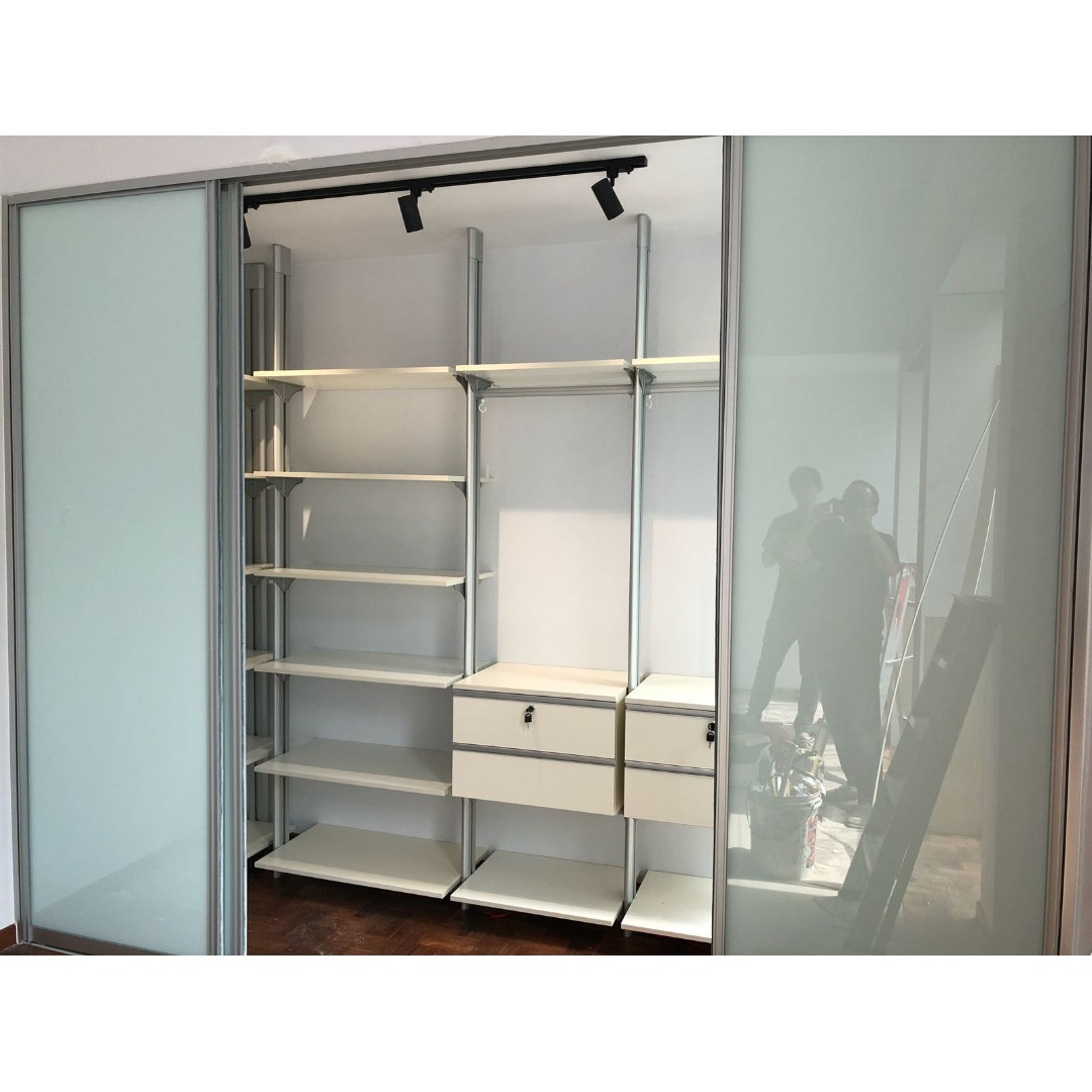 How To Make Built In Wardrobes With Sliding Doors: Sliding Door Pole System Wardrobe (Built-In/ Walk-In