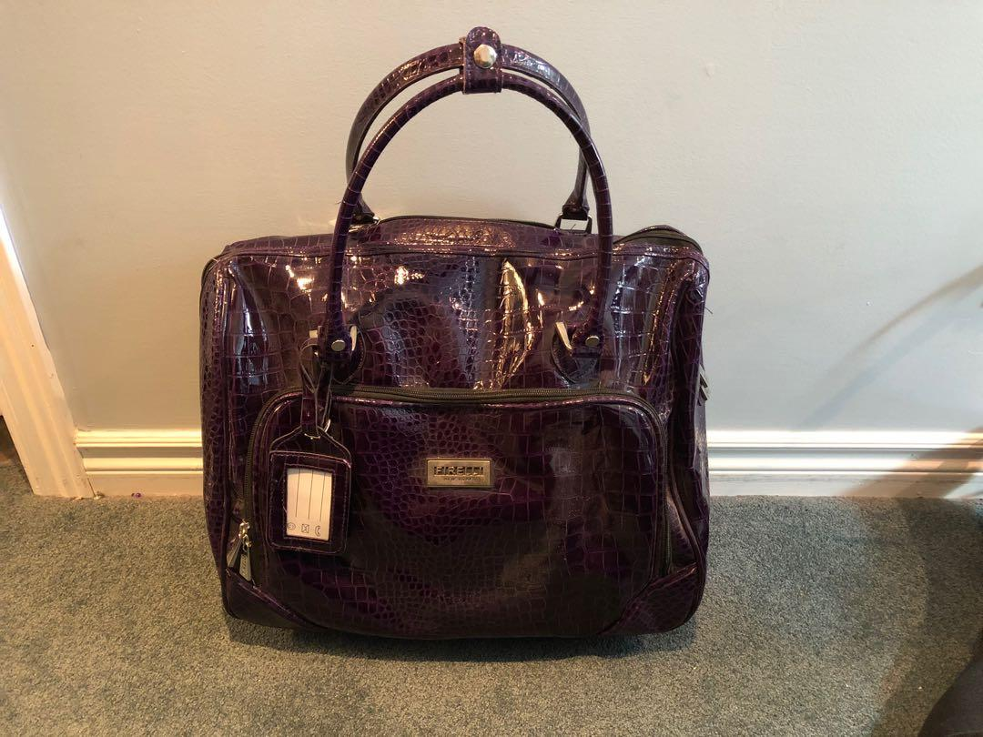 Faux Leather Carry on Bag