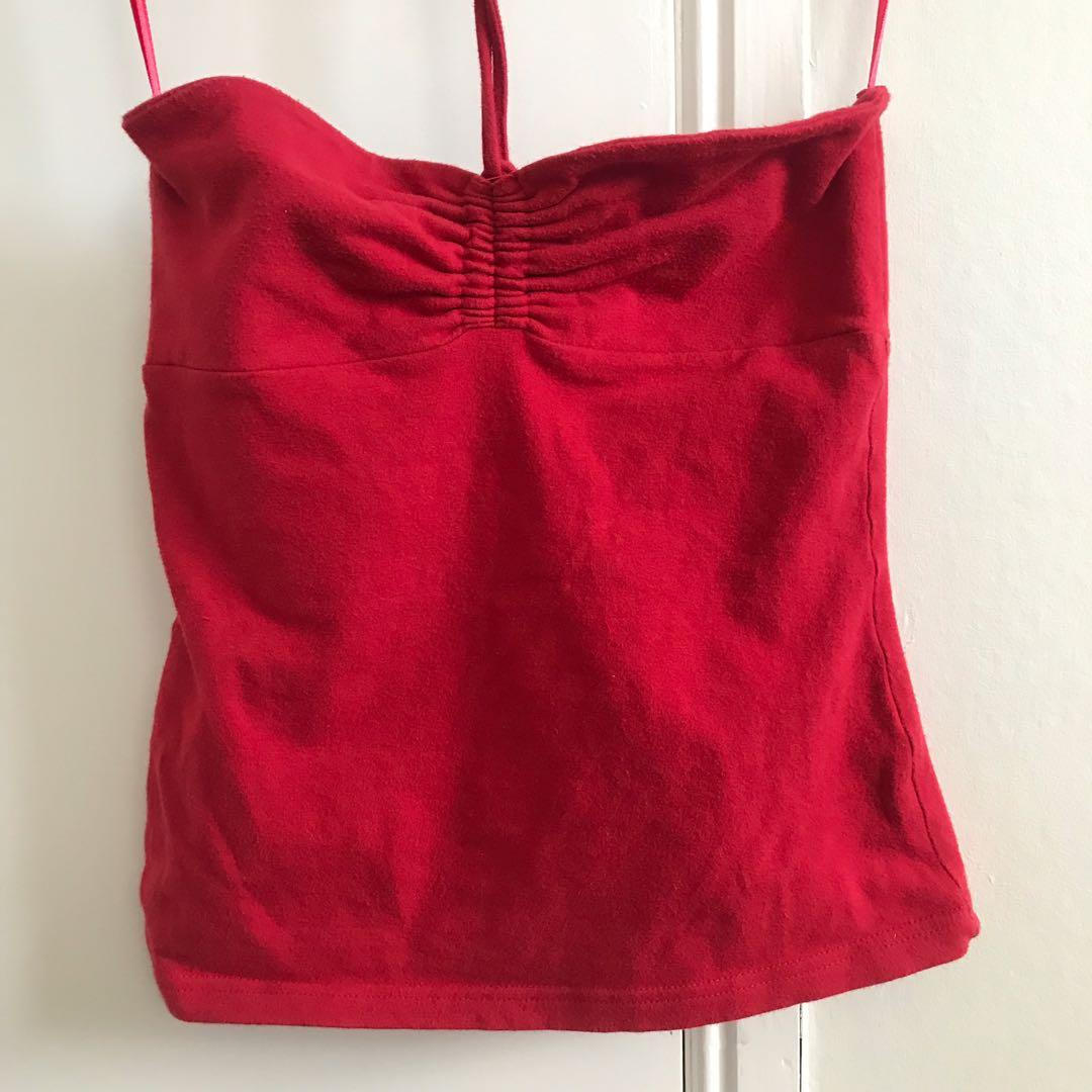 Glassons red strapless top