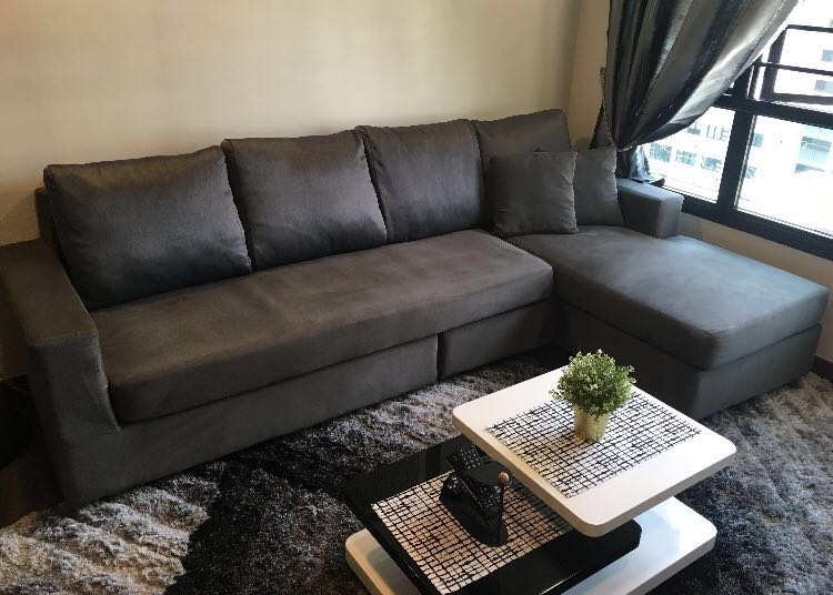 L Shaped Sofa 4 Seater Furniture Sofas On Carousell