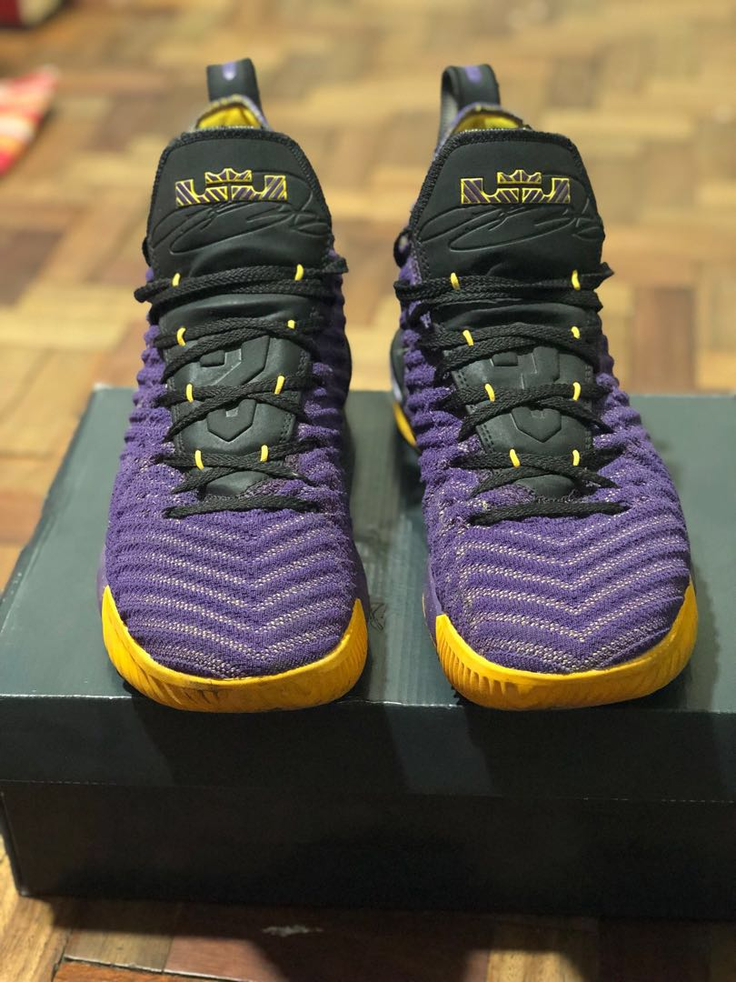 premium selection 9f8c0 da29e Lebron 16 - XVI yellow and purple color
