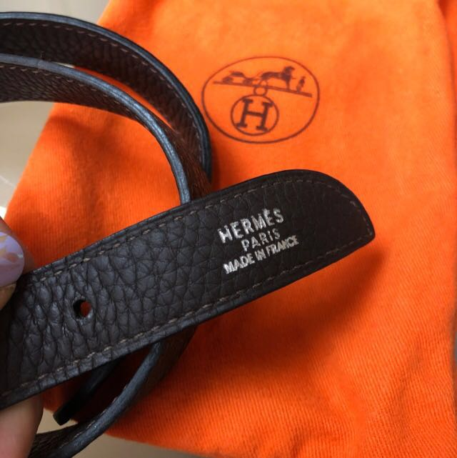 7eaa77663d42 LIKE NEW Hermes Massai Nocciola Chevre Mysore Goat Leather Shoulder ...