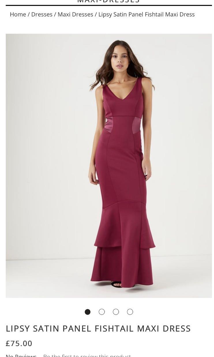 556c9f8c 🔥🔥 LIPSY FISHTAIL MAXI DRESS, Women's Fashion, Clothes, Dresses ...