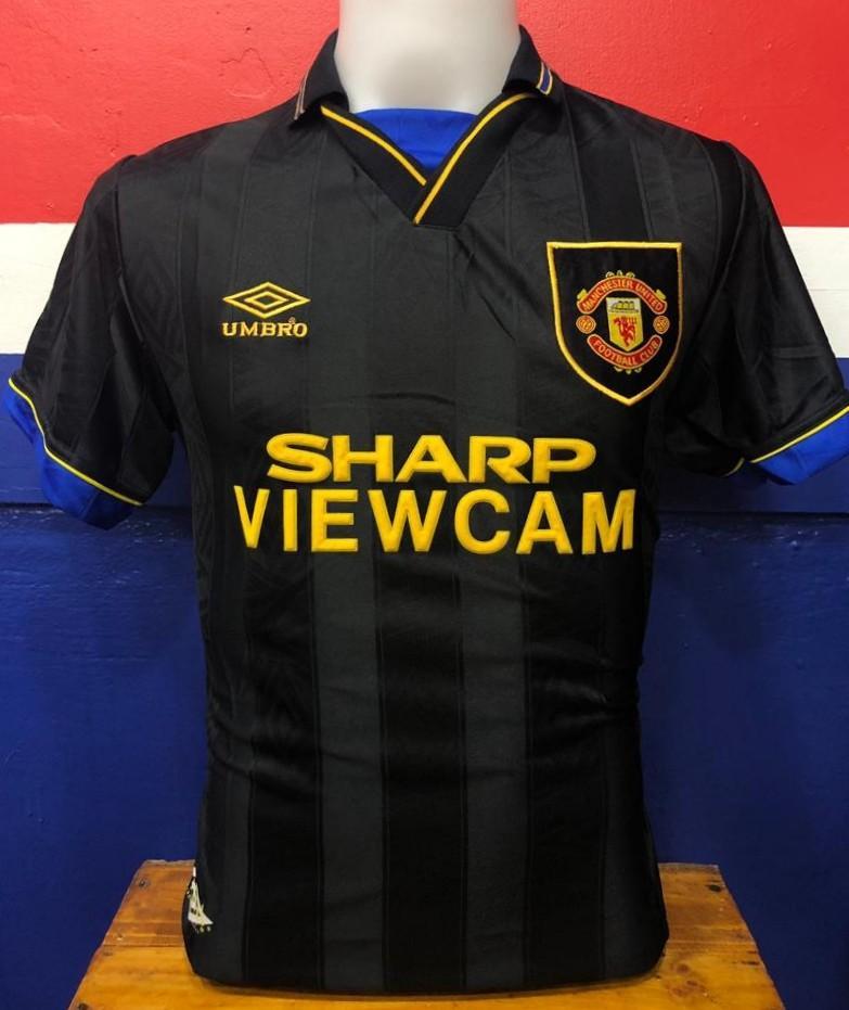 new concept fabf1 442fe Manchester united Retro jersey 1993-1995 Viewcam, Sports ...
