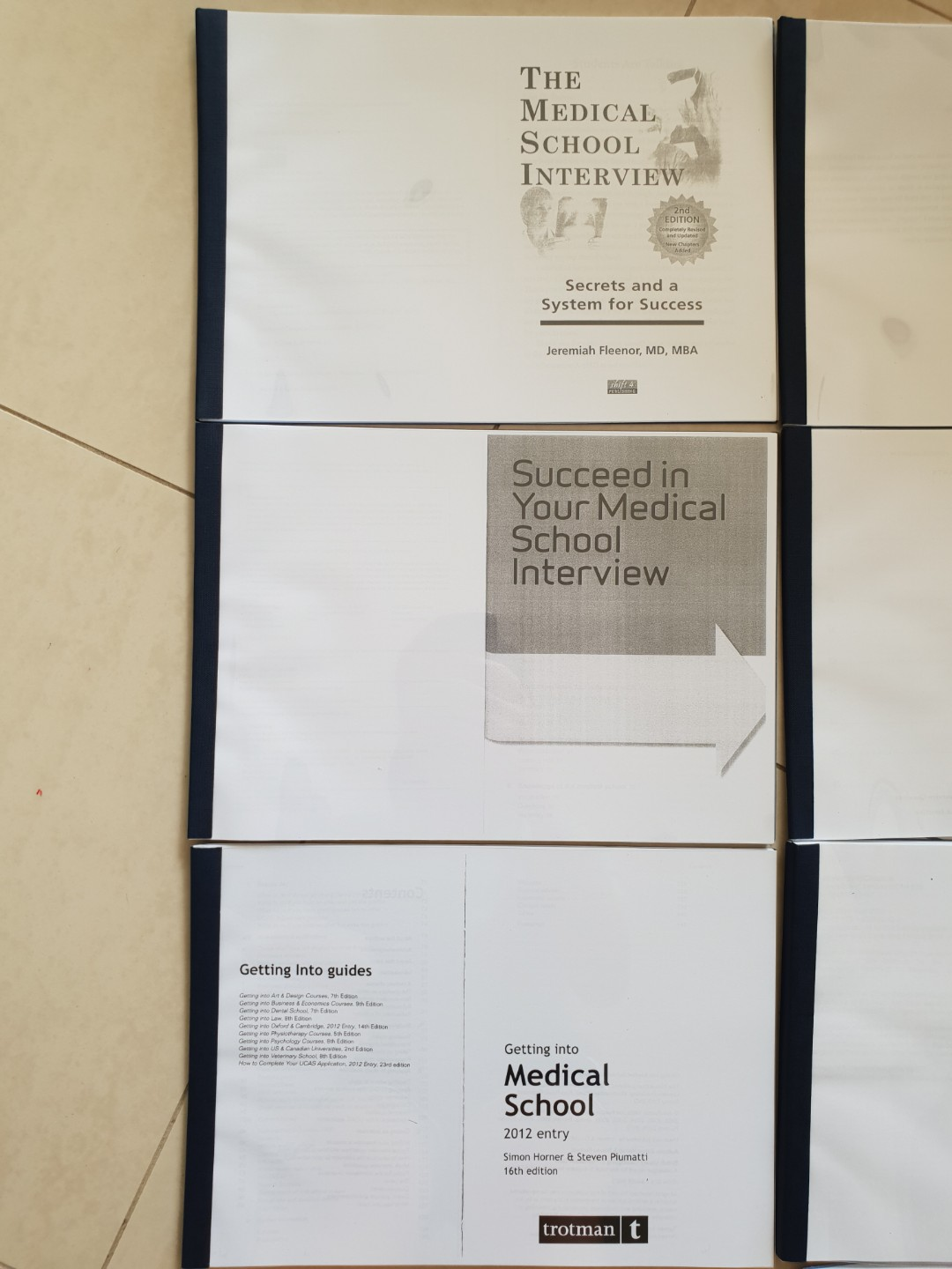 Medical school interview and personal statement guide books