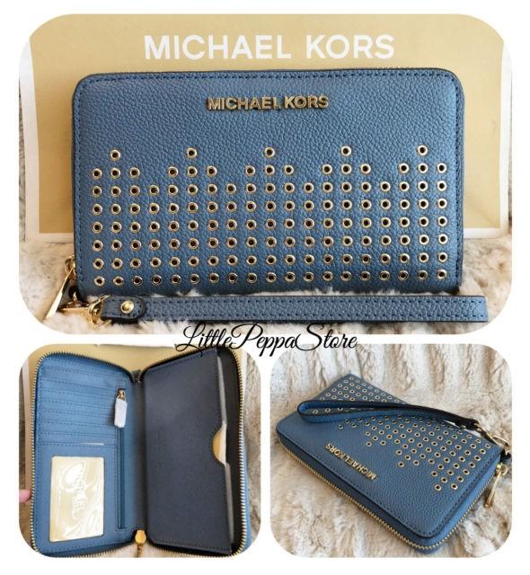 368390cc8697 Michael Kors Large Multifunction Phone Clutch Eallet