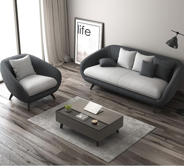 PEBBLEBAY Modern Fabric Nordic Style Sofa, Furniture, Sofas on Carousell