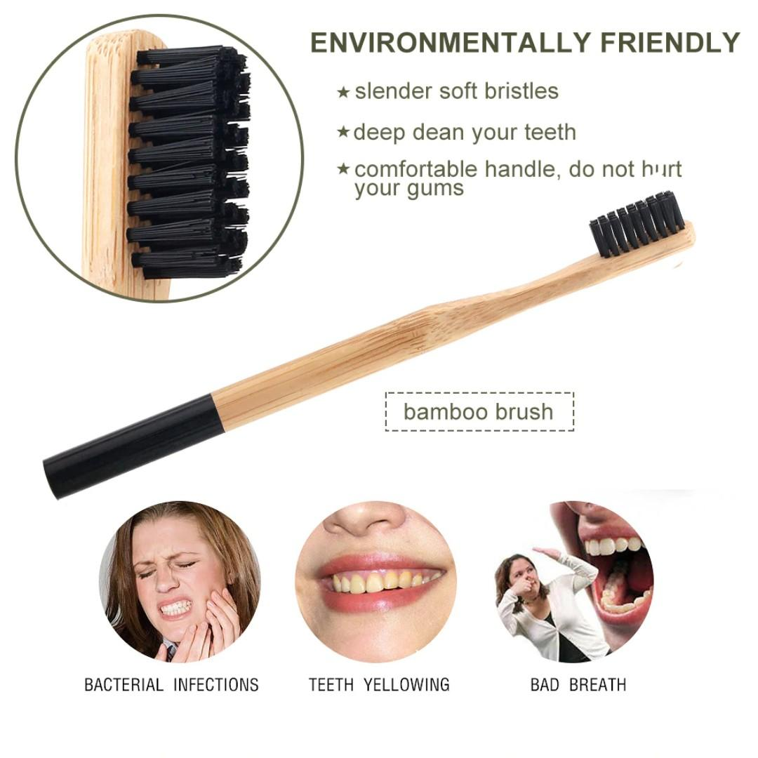 Natural Teeth Whitening Powder Smoke Coffee Tea Stain Remover Oral Hygiene Dental Care Bamboo Activated Charcoal