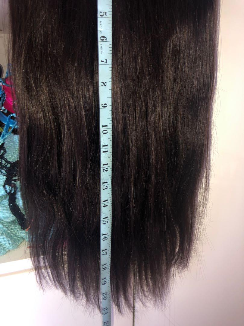 NEW + UNUSED: Halo Hair Extensions (brown) (22 inch)