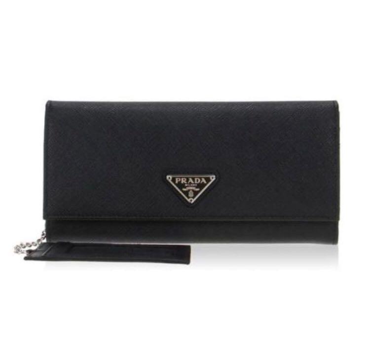 b495cd745281e1 New Black Prada Wallet, Women's Fashion, Bags & Wallets, Wallets on ...