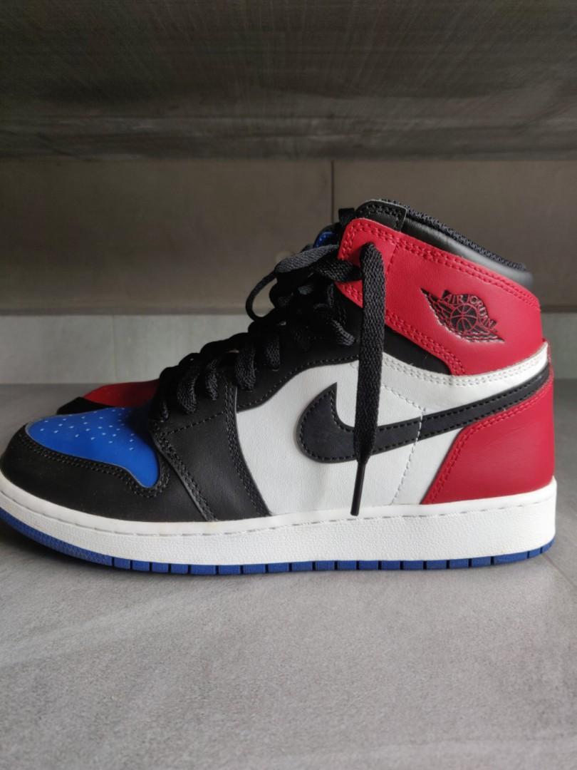 sale retailer d203c 9d845 Nike Air Jordan 1 Retro High OG BG 'Top 3, Men's Fashion ...