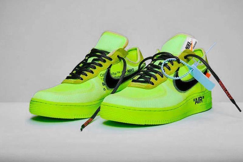 "Off white Nike Air Force 1 ""Volt"", Men"