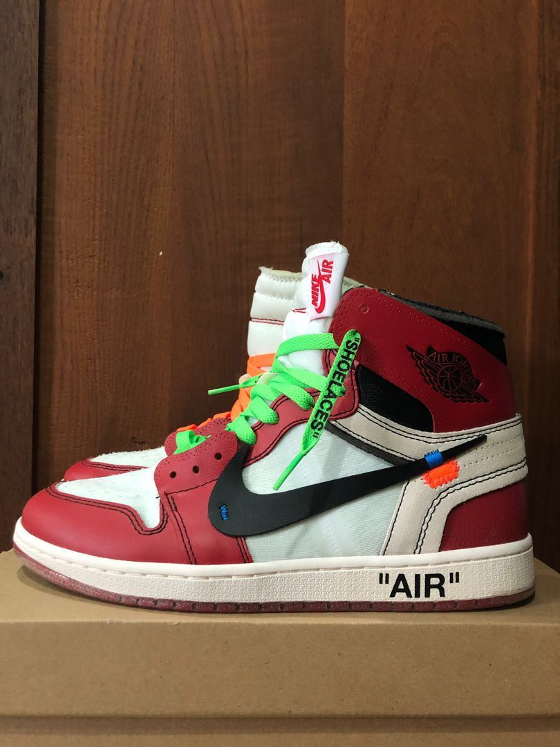 77c2a9fa9992 Off White x Nike Air Jordan 1 Chicago