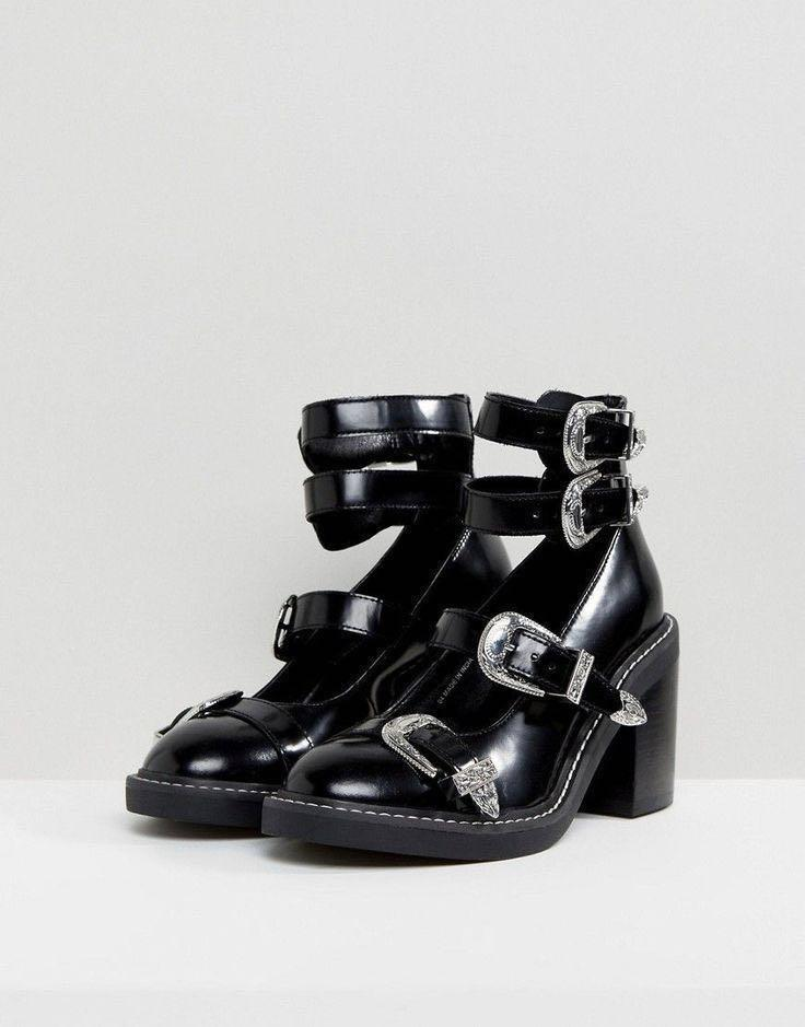 Oh Gosh Multi Buckle Heeles Shoes