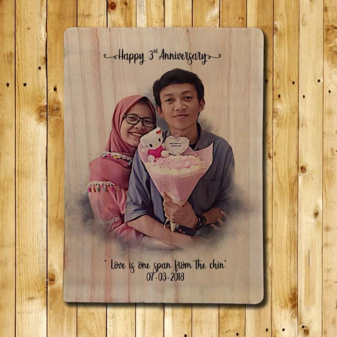 Personalised Wooden Photo Prints with Custom Design, Design